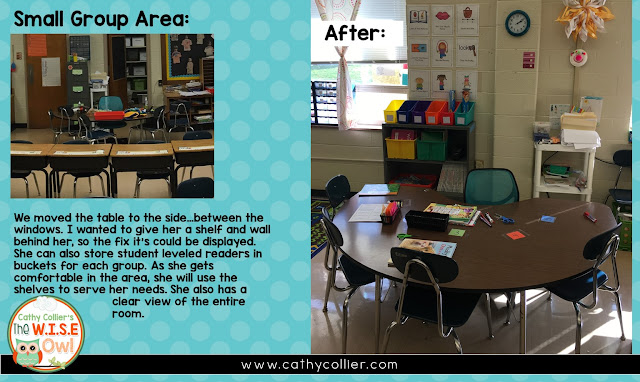 Classrooms need to be spaces created to optimize student learning. It's our first line of defense. This classroom got a make-over in January. Let's make this space work!