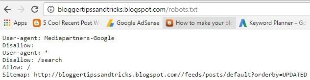 Robots txt Google
