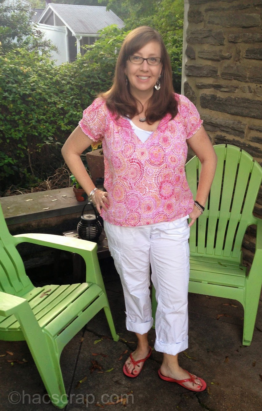 Mid-Life Mom Style - Cargo Pants, Cami and Pink Top