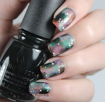 Hobby Polish Bloggers │ Neon Nebula Nails