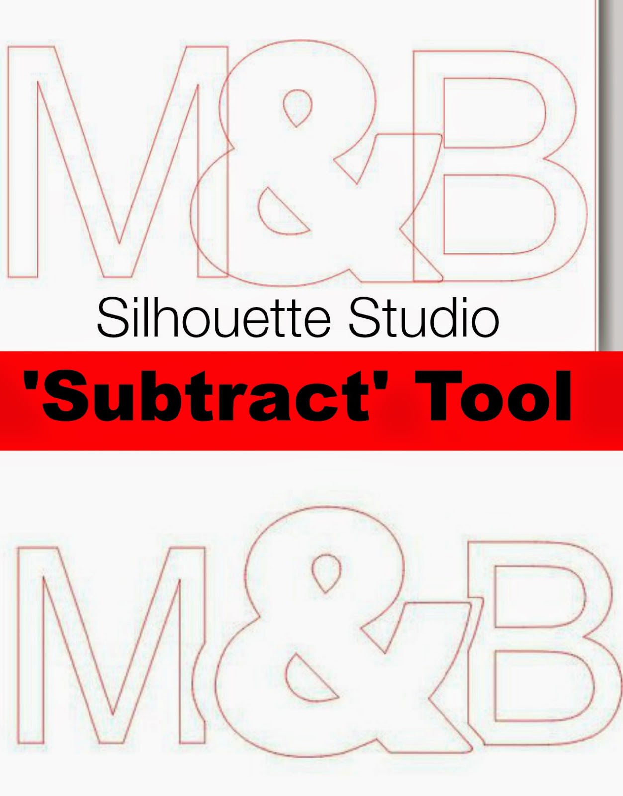 Subtract, subtract all, Silhouette tutorial, Silhouette Studio
