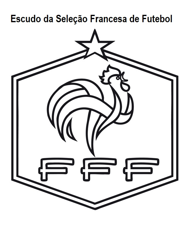 Blog De Geografia Escudo Da Selecao Francesa De Futebol Desenho