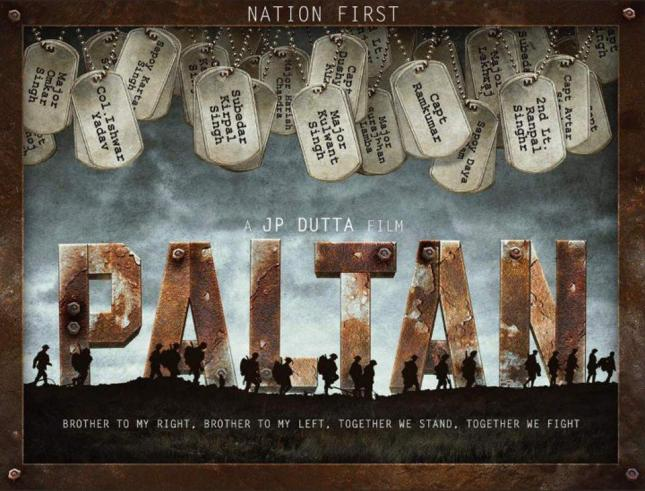 Paltan new upcoming movie first look, Poster of Jimmy Sheirgill, Arjun, Sonu, Jackie, Pulkit, Harshvardhan download first look Poster, release date
