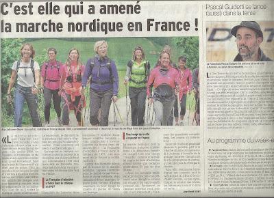 C'est elle qui a amené la marche nordique en France ! article