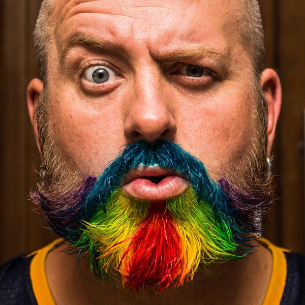 Barba Masculina enfeitada colorida (4)