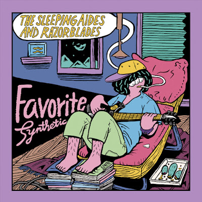 THE SLEEPING AIDES & RAZORBLADES。 札幌にて活動開始から約4年、齢22~23歳(プラス27歳)にして待望の2ndアルバム『FAVORITE SYNTHETIC(LP+CD)』がDEBAUCH MOODよりリリースされる。