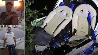 Θρήνος για τους δύο επιβάτες του αεροσκάφους στη Λάρισα