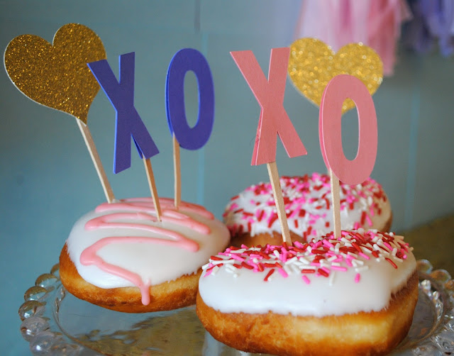 Galentine's Day brunch doughnuts