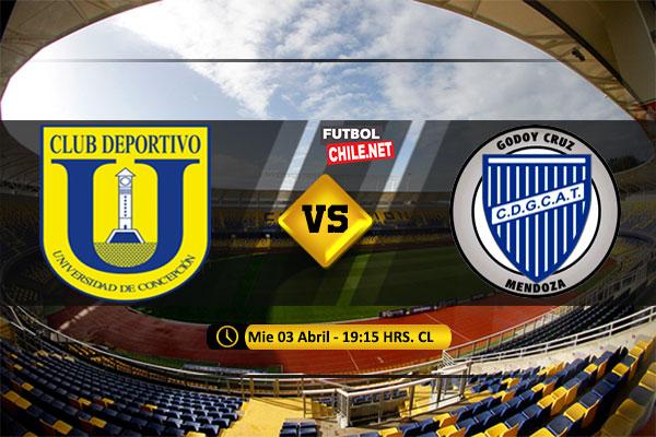 Mira Universidad de Concepción vs Godoy Cruz en vivo y online por la Fecha 3 del Grupo  de la Copa Libertadores