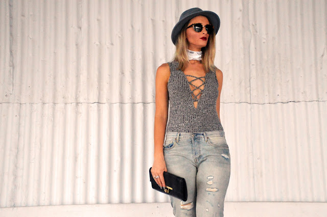 lace up bodysuit street style
