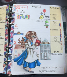 Planner-stamping-Belle-copic-