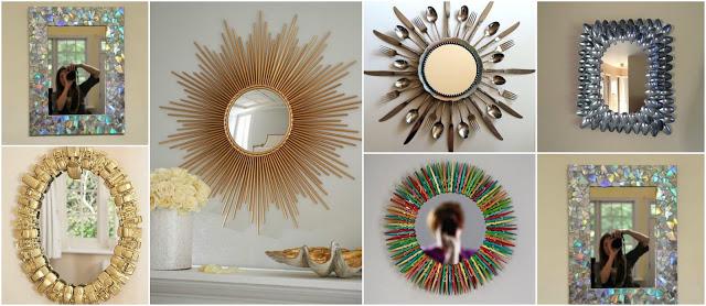 Con cajas de cereal aprende c mo hacer marcos para espejos for Espejos redondos para decorar