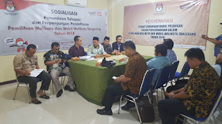 KPU Kota Tangerang Tunda Tahapan Pencalonan Selama 3 Hari