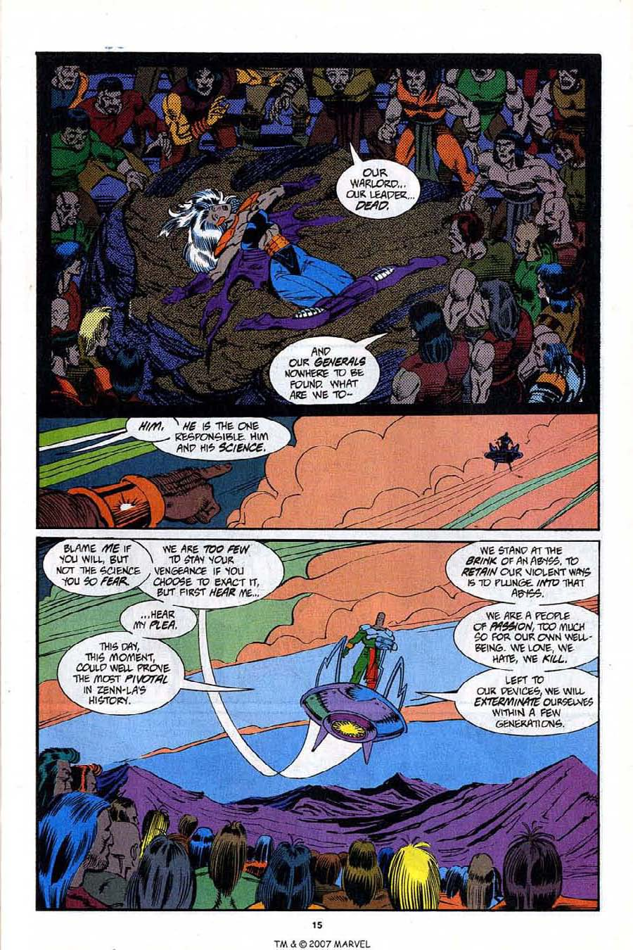 Read online Silver Surfer (1987) comic -  Issue #92 - 17