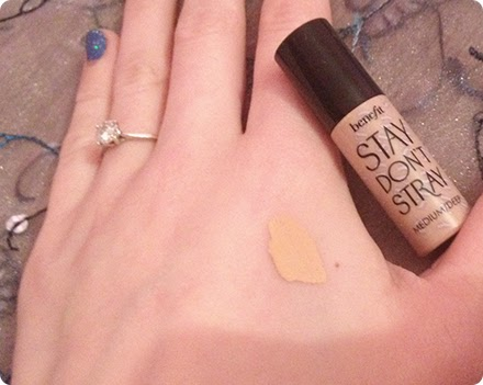 Benefit 'Stay, Don't Stray' primer swatch