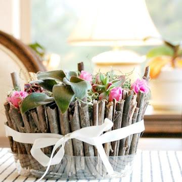 DIY Spring Twig Planter