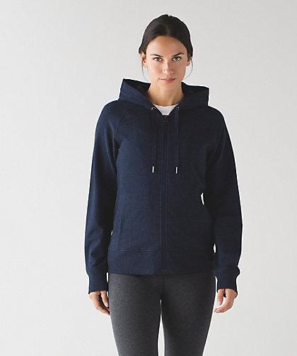 lululemon split-hoodie naval blue