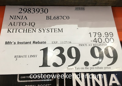 Deal for the Ninja BL687C0 Auto-IQ Kitchen System at Costco