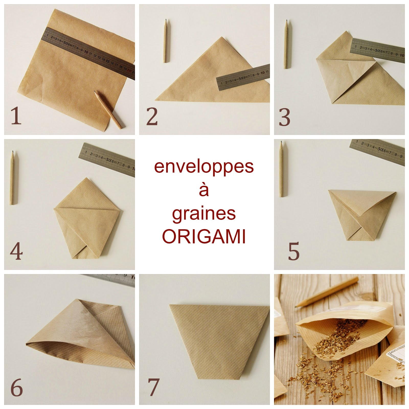 enveloppes a graines en origami recettes bio green lifestyle. Black Bedroom Furniture Sets. Home Design Ideas
