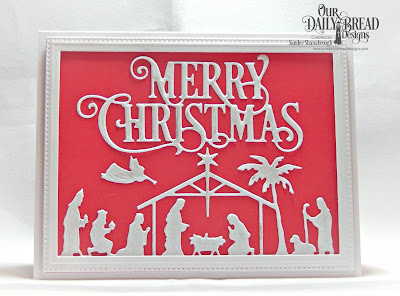 Our Daily Bread Designs Custom Dies: Merry Christmas Caps, Holy Night, Pierced Rectangles, Paper Collection: Christmas Coordinating 2015