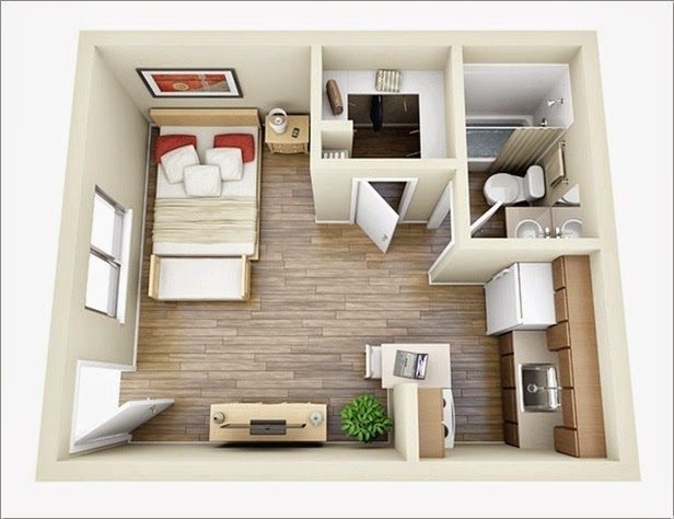10 Ideas For One Bedroom Apartment