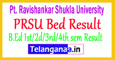 Raipur University PRSU Bed Result