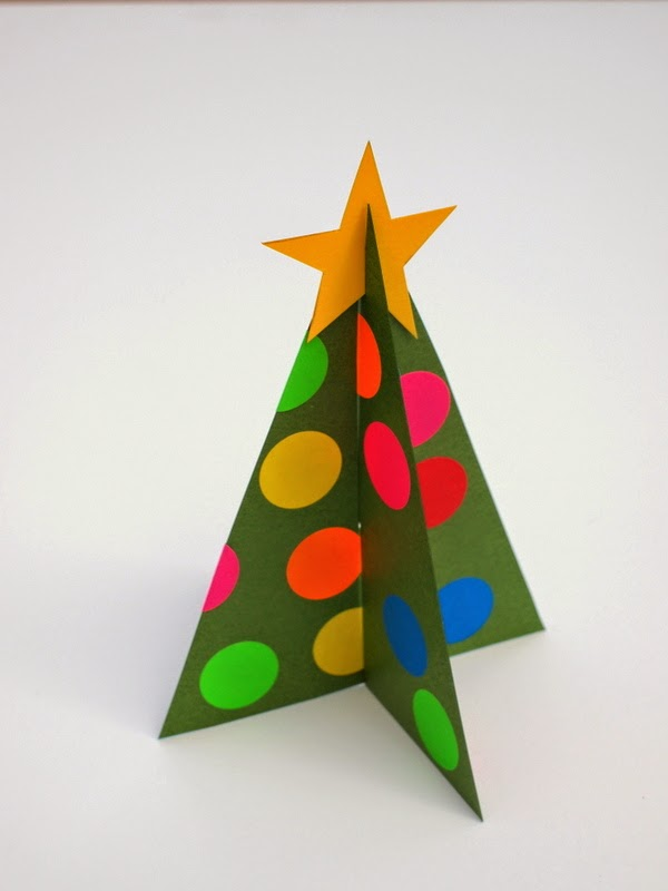 paper Christmas trees with printable