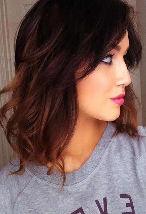 Trendy Caramel Hair Color for 2018   Hairstyles   Hair Color for     These highlights are great as they brighten up darker locks while giving  some color to face  Luckily  this gorgeous dye job works for everyone