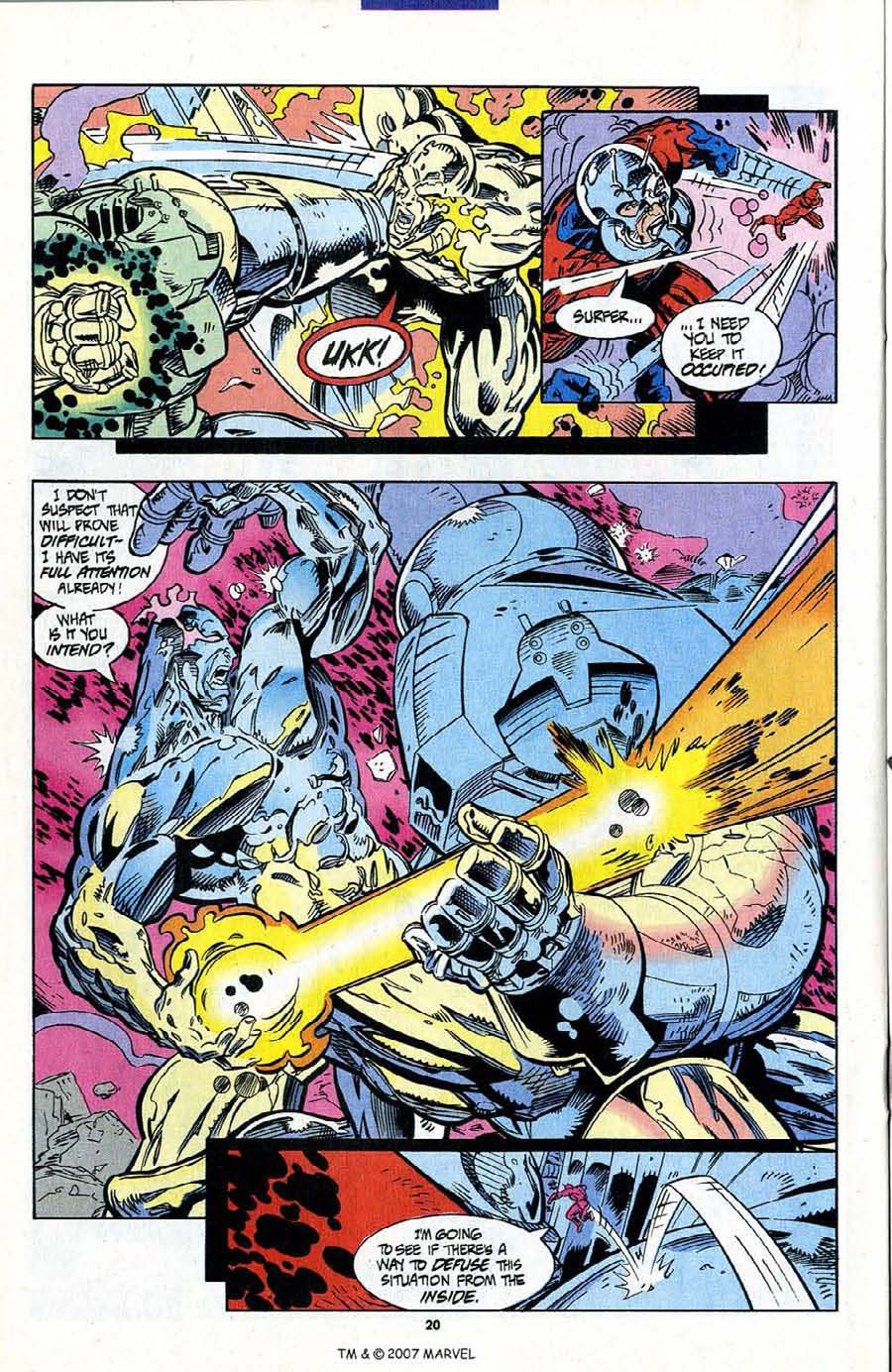Read online Silver Surfer (1987) comic -  Issue #95 - 22