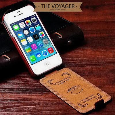dompet sarung casing hp kulit asli iPhone 5 5s leather case flip case cover import sapi vintage premium original unik keren