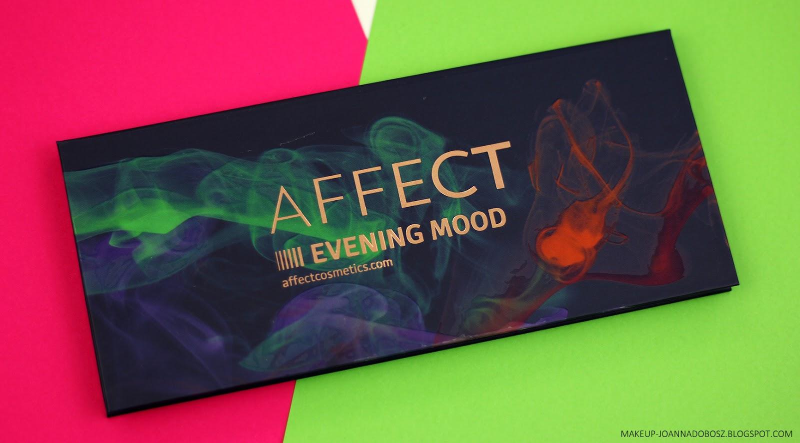 NASTROJOWY WIECZÓR -  recenzja palety Evening Mood od Affect Cosmetics