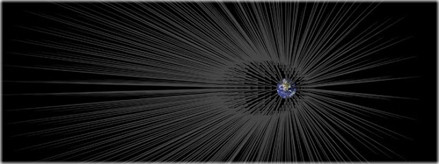 terra está cercada por fios de matéria escura