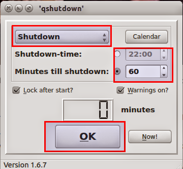 qShutdown no Ubuntu