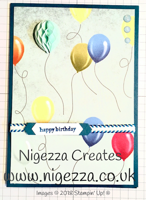 Nigezza Creates Birthday Memories Balloon Card