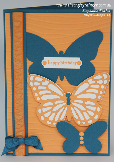 Stampin Up, #thecraftythinker, #crazycraftersbloghop, Bold Butterflies, Stampin Up Australia Demonstrator