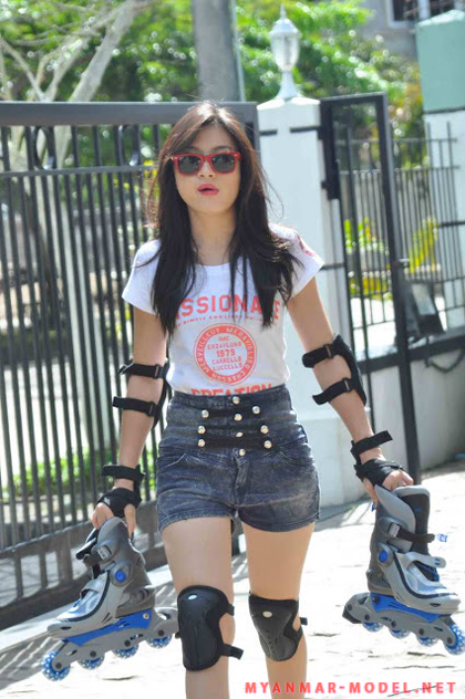 wut hmone shwe yee sexy roller blades outfit 03