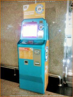 self service kiosk (SSK), mesin kiosk layan diri, beli dan topup kad Touch 'n Go secara percuma di Lapangan Terbang Antarabangsa Kuala Lumpur (KLIA)