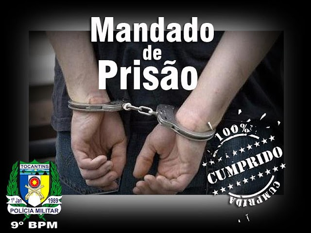 ARAGUATINS: Homem descumpre decisão judicial e acaba preso pela PM por força de mandado de prisão