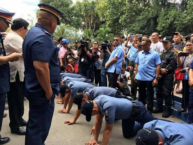 PNP Chief Bato Dela Rosa Scolded 7 Police Officers Linked To The Robbery/Extortion Of 3 Koreans At Angeles City: 'T***ina nakakahiya kayo!'
