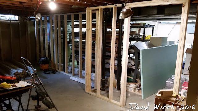 basement wall framing, how to, nail gun