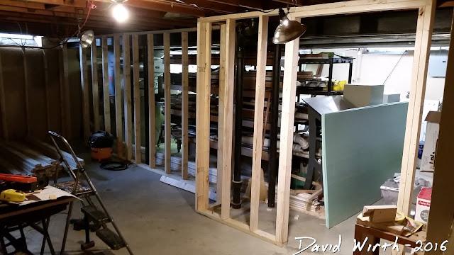 basement wall framing, how to, nail gun