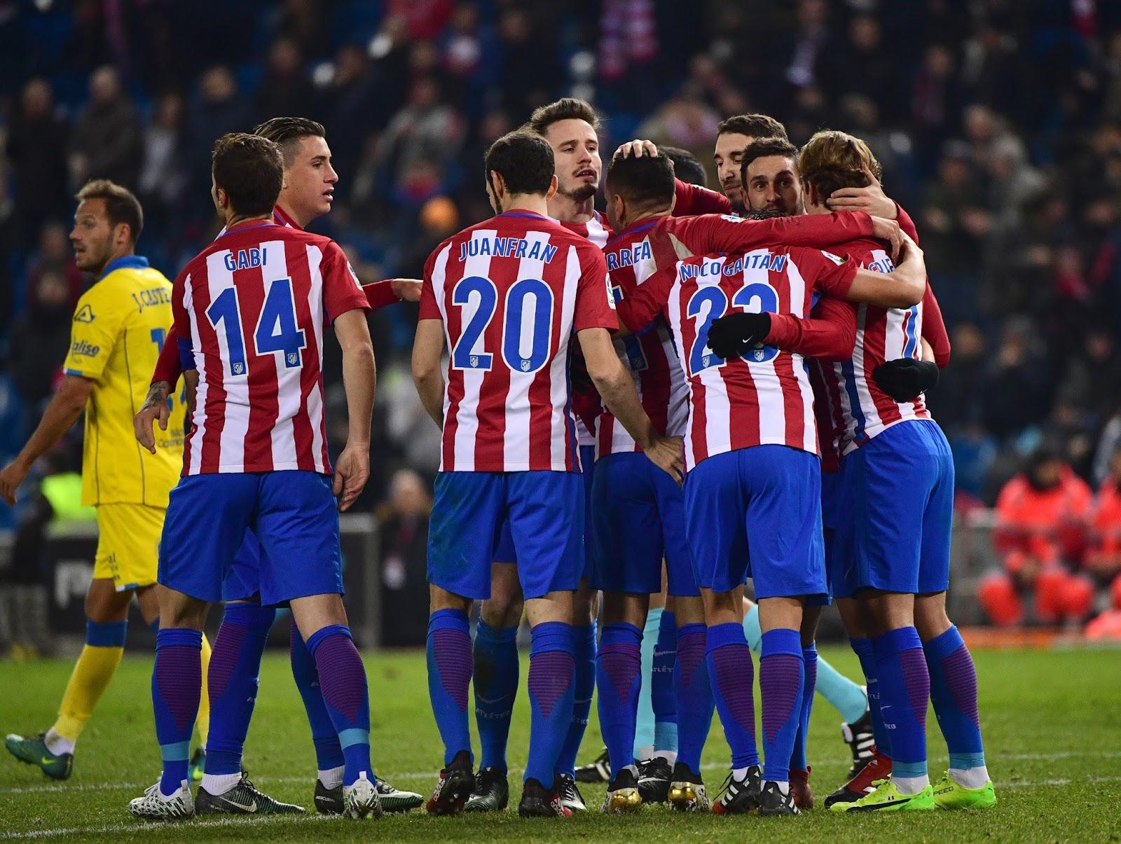 Apesar da vitória dos Las Palmas, o Atlético de Madrid avançou para as quartas de final (Foto: Pierre-Philippe Marcou/AFP)