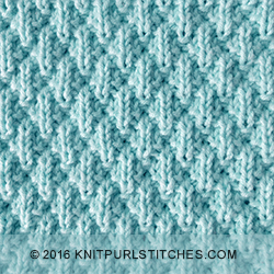 Knit And Purl Stitches Patterns : Seersucker Knit - Purl stitches