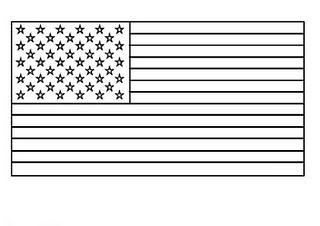 colorea tus dibujos bandera de estados unidos para colorear