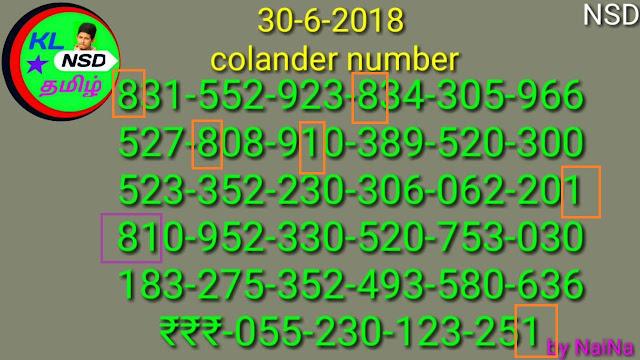 Karunya 352 Kerala lottery calendar guessing by Raja Nina