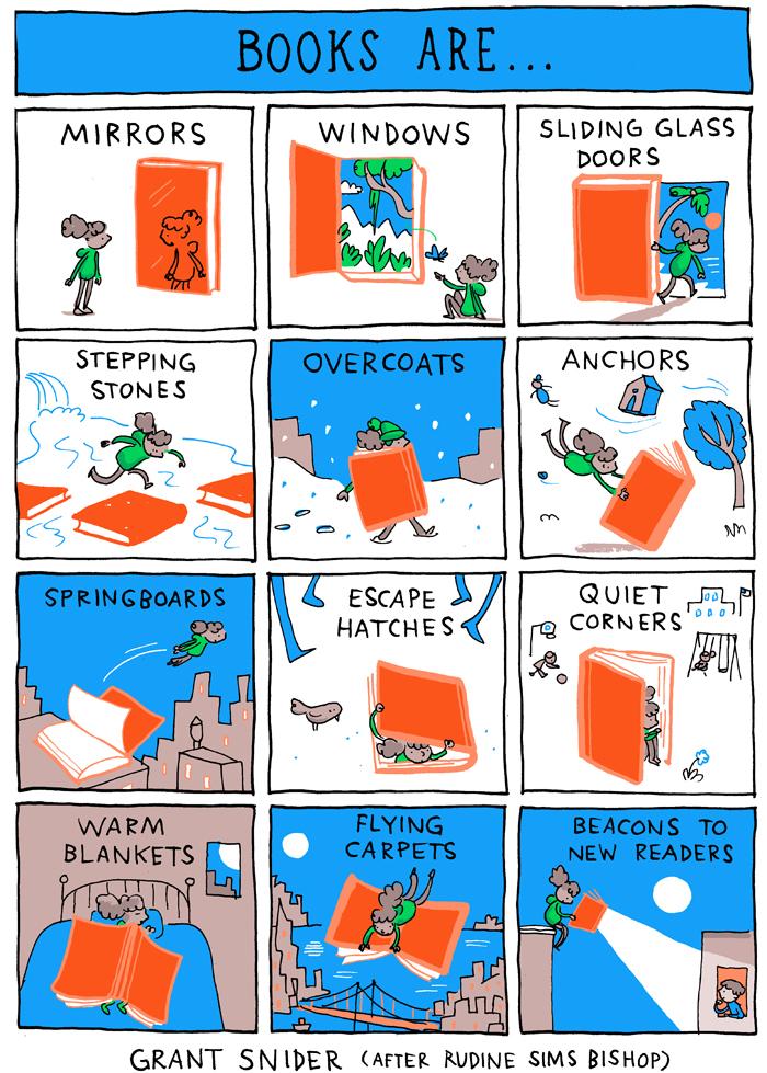 Bücher sind ... - ein Comic von Grant Snider