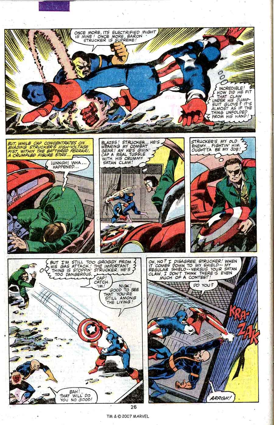 Captain America #247 marvel 1980s bronze age comic book page art by John Byrne