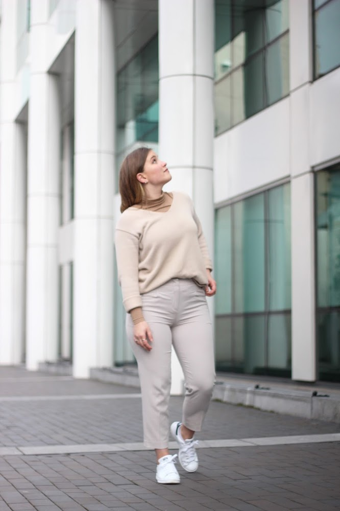 nude, neutral, street style, beacons closet, irish blogger, irish fashion blogger, irish street style, dublin street style, monochrome, latest lil, adidas, stan smiths