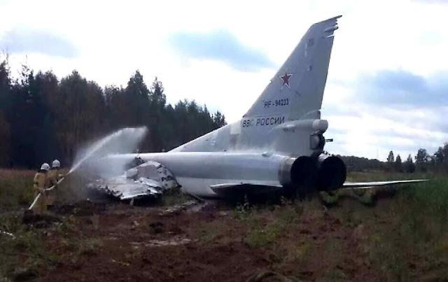 Tupolev-22M acidentado durante os exercícios Zapad 2017