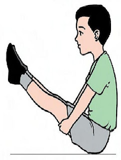 Latihan Keseimabangan Dengan Sikap Duduk Membentuk Huruf V